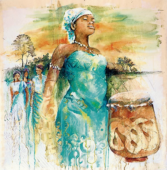 """Gran tangi gi Mama Aisa (In gratitude to mother Earth)"", Sri Irodikromo"